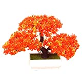 Albero di bonsai da 180 millimetri nella decorazione della pianta artificiale della pentola per ufficio/casa arancione