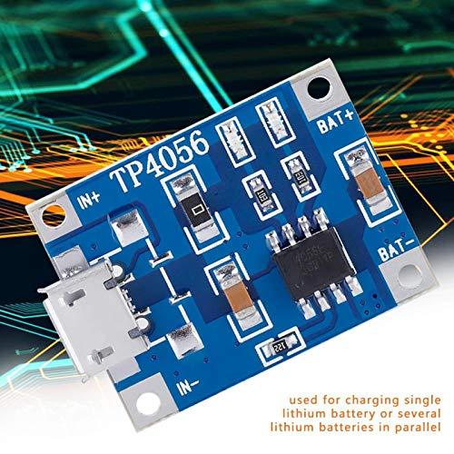 Módulo de carga de batería micro USB, toma micro USB estable, duradera, práctica, placa de carga de batería de litio de 1 A, para juntas de soldadura de cableado de 2,5 V