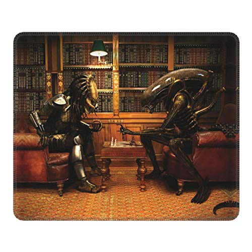 Gaming Mouse Pad Aliens vs Predator Cute Mousepad Super Soft Large Rubber Base for Accessories Non-Slip Mouse Mat Pad for Mens
