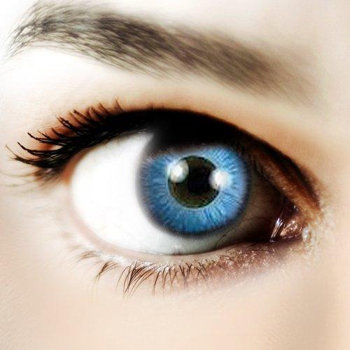 Halloween Kontaktlinse Lustige Linsen Space Blue Jährliche Einwegartikel 14 mm stärke 0.00 von ColourVUE