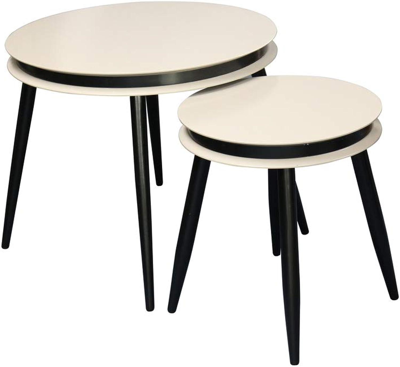 online al mejor precio Kayoom Side Table Set of 2 Suri 110 Taupe Taupe Taupe negro  precios mas baratos
