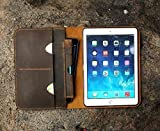 Personalized New iPad Pro 10.5 leather cover portfolio apple pencil holder distressed leather iPad cover case for 2017 iPad Pro 10.5 IDP15SP