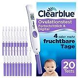 Clearblue Kinderwunsch Ovulationstest Fortschrittlich & Digital - Fruchtbarkeitstest für Eisprung, 20 Tests