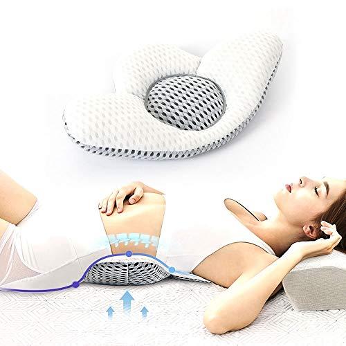 LAPONO Lendenkissen für Bett, Rückenkissen stützen Schlafkissen Dreieck-Lendenkissen für Rücken,Füllungund-Unterstützung können Lindert Schlaf- und Taille Beschwerden (Rückenkissen)