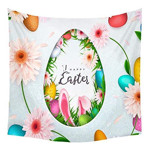 Baimao 1 tapiz colorido con diseño de huevo de Pascua como toalla de playa, colcha, decoración de dormitorio, esterilla de yoga, decoración de pared, funda de sofá