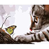 Loreleyo ABallo Paint by Number Kits Paintworks Acrylic DIY Oil Painting for Kids and Adults Beginner Animals Canvas (No Picture Frame)