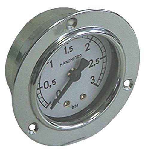 BFC Manometer für Kaffeemaschine Junior-Plus, Junior 0-3bar mit Markierung bei 0,7-1 Anschluss rückseitig ø 52mm 1/8'