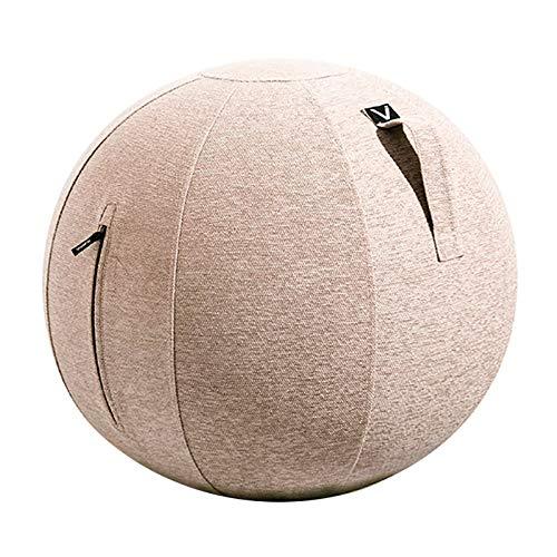 シーティングボール バランスボール エクササイズボール ルーノ シェニール 耐荷重 120kg おしゃれ インテリア すべり止め ダイエット 軽量 トレーニング 洗濯可 ファブリック 安全設計 プレゼント [ベージュ]