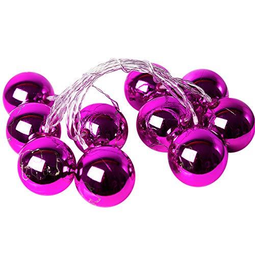 kingko® 2M 10 Led Weihnachtslicht, Batteriebetrieben Stimmungsbeleuchtung Dekorative Beleuchtung für Balkon Fenster Party Hochzeit Weihnachten (Lila)