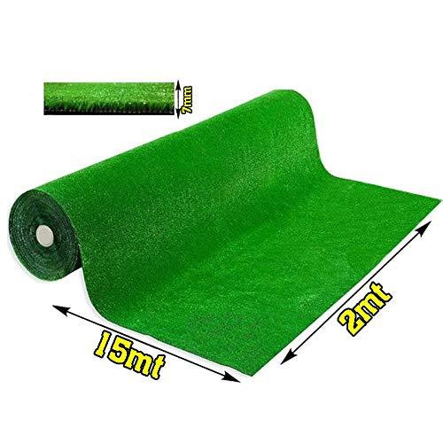 Olivo.Shop - Grass Green, Prato Sintetico da 7mm per Realizzare Giardini o campi da Calcetto. Manto erboso di Finta Erba Disponibile in Varie Misure. (2X15 Metri)