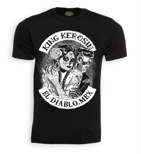 King Kerosin Shirt El Diablo Black-S
