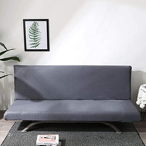 Funda de sofá gris sin brazos para silla de sofá, impermeable, superelástica, con parte inferior elástica, antideslizante, suave, protector de muebles para niños