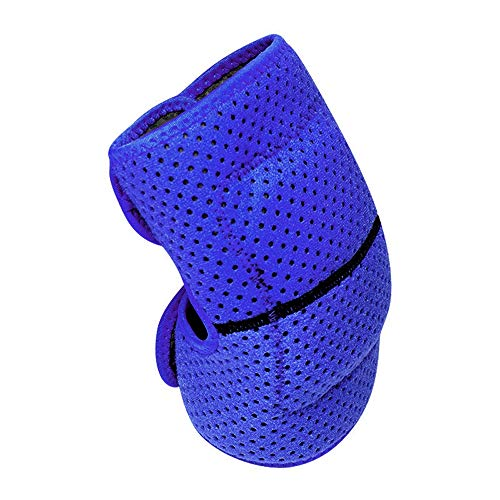 L.J.JZDY Kniebandage Dicker Schwamm Anti-Rutsch-Kollisionsvermeidung Knie-Ärmel Outdoor-Klettern Reiten Protector Knieschützer Knieschutz (Color : Blau, Size : S)