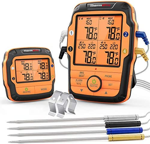 ThermoPro TP27 500FT Long Range Wireless Meat Thermometer for Grilling and Smoking with 4 Probes product image