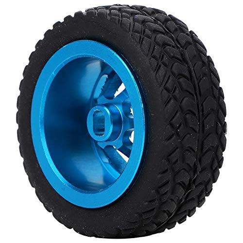 Zimaes Excelente 4 unids 1/28 RC Modelo de Juguete Neumático Neumático Accesorios Ajuste para WLTOYS K989-53 RC Piezas DE Coches DE Aluminio Cubiertas DE Aluminio Suave (Color : Blue)