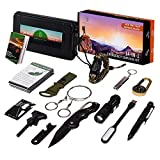 Oak Dweller Emergency Survival Kit 14 in 1, EDC Survival Gear Tool with Fire Starter, Tactical Pen,...