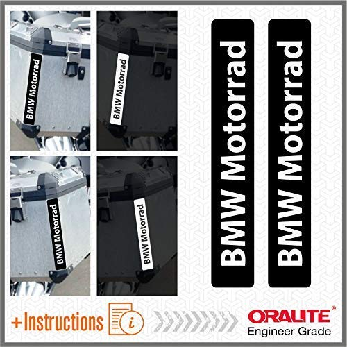 2pcs Reflektierende Aufkleber Motorrad R 1200 1150 F 800 650 F700 GS A R1200GS R1200 Touratech Motorcycle Aluminium Panniers Streifen (Black)