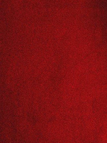 havatex Velours Teppich Burbon - 14 Farben modern & klassisch | Top Preis-Leistung | TÜV-geprüft & schadstoffgeprüft | Wohnzimmer Schlafzimmer, Farbe:Rot, Größe:160 x 180 cm