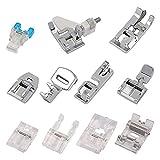Gobesty - Pies para máquina de coser, 11 piezas, kit de prensatelas, accesorios de costura para máquinas de coser...
