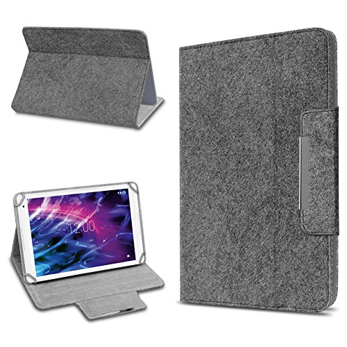 UC-Express Medion Lifetab P10612 P10610 E10604 P10603 E10412 P10606 P10602 X10605 X10607 P9702 X10302 P10400 P10506 P10505 Tablet Tasche Schutzhülle Filz Hülle Dunkelgrau Cover Hülle