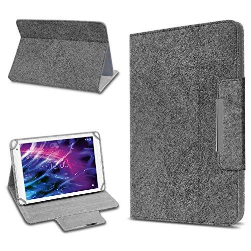 UC-Express Medion Lifetab P10612 P10610 E10604 P10603 E10412 P10606 P10602 X10605 X10607 P9702 X10302 P10400 P10506 P10505 Tablet Tasche Schutzhülle Filz Hülle Dunkelgrau Cover Case