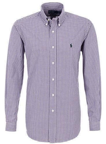 Ralph Lauren FREIZEITHEMD purple/white kariert Herren hemd violett (M)