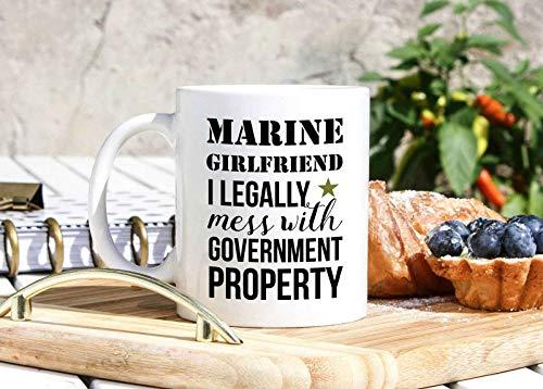 N\A Taza de Novia Marina - Regalos de Novia Marina - Regalos Militares - Regalo de Taza Blanca Personalizada