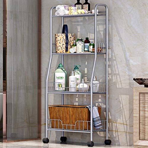 Badezimmer-Regal, freistehend, 4 Etagen, offenes Regal, freistehendes Metall-Eckregal für Küche, Wohnzimmer, Flur, Kzwjiissx