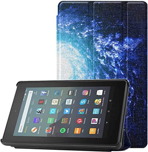 Funda para tablet Fire 7 Increíblemente hermosa espiral Galaxy caso para Fire 7 para Fire 7 Tablet (9ª generación, 2019 lanzamiento) ligero con auto Sleep/wake