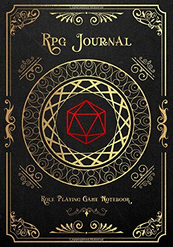 RPG Journal Mixed Paper: Ruled, Graph, Hexagon and Dot Grid | Role Playing Game Companion Warrior Book (Dungeon RPG Game Series)