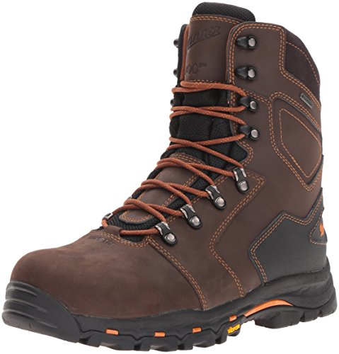 "Danner Men's Vicious 8"" 400G NMT Work Boot, Brown, 11 D US"