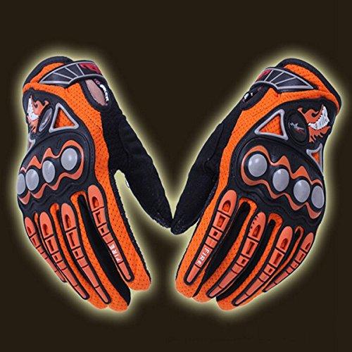 Wooya Volle Finger Sicherheit Bike Motorrad Racing Handschuhe Für Pro-Biker Mcs23-Orange-Xl
