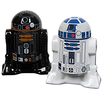 Star Wars Droid Salt and Pepper Shakers - Ceramic R2-D2 and R2Q5 - Add a little Star Wars to every Meal
