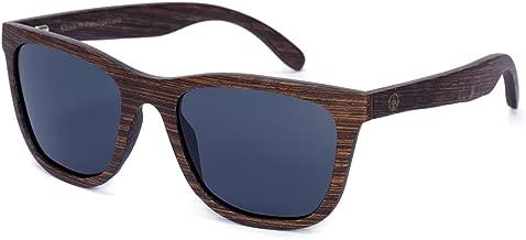 Tree Tribe Wood Wayfarer Sunglasses, Polarized - Wooden Frames + Bamboo Case