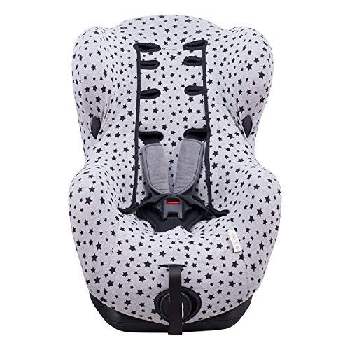 Janabebe Funda para Bébé Confort Iseos Neo y Auto Kite (Black Star)