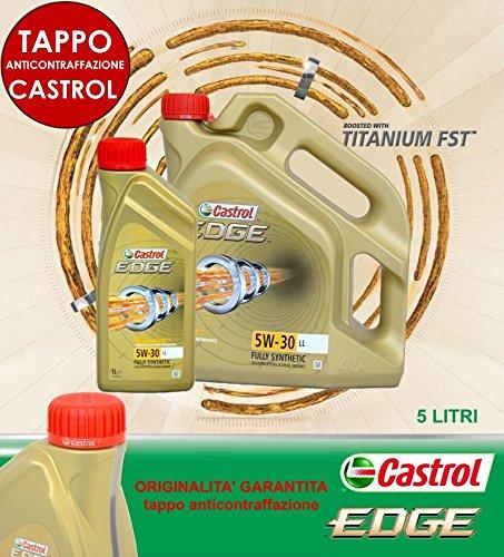 5 LITRI OLIO CASTROL EDGE FST 5W30 507.00 504.00 TAGLIANDO