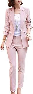 SUSIELADY Womens Business Work Suit Set Blazer Pants for Office Lady Suit Set Slim Fit Blazer Pant