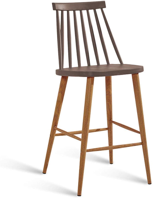 CHX Bar Chair Modern Simple High Stool Bar Table Chair Bar Stool Industrial Wind High Leg Bar Chair V (color   Brown)