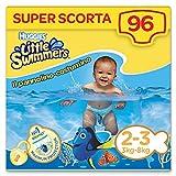 foto Huggies Little Swimmers S - Pañales, talla 2-3 (3-8 kg), 8 paquetes de 12 [96 pañales] 96 pezzi