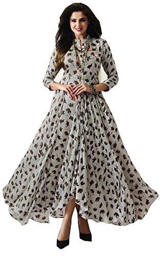 Royal Export Women's Reyon Cotton Dress (N_White_l_White_Large, White, L)