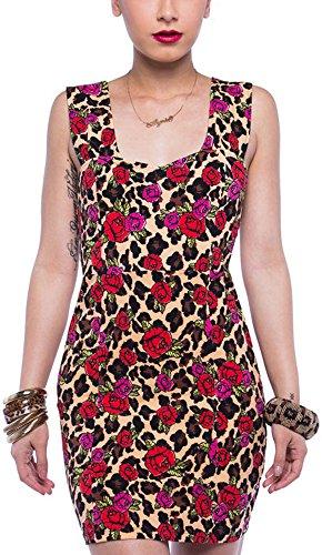 Iron Fist Kleid Leopard Garden Dress Schwarz XL