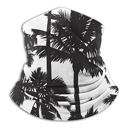 Palm Tree - Pasamontañas unisex de microfibra, color negro