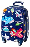 GURHODVO Kids Carry On Luggage for Boys Children Rolling Suitcase with 4 Spinner Wheels Hardshell Case for Toddler to Travel (airplane)