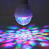 VGEBY 2pcs Disco Lampe Ampoule LED Boule Magique RVB de Scène d'Ambiance 3W Boule de Cristal Stroboscope DJ Décoration Fête Noël Halloween Soirée Club Pub KTV