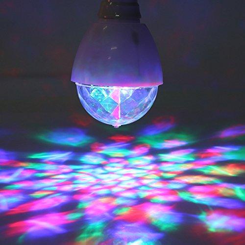2pcs Luz DJ Bombillas Lámparas LED Lámpara Rotatoria Fiesta Disco Luces de Discoteca para Fiestas
