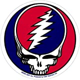 Grateful Dead Steal Your Face w/White Border - Bumper Sticker/Decal
