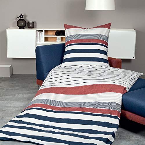 Janine Design Mako-Satin Bettwäsche Palermo 31068-01 1 Bettbezug 135 x 200 cm + 1 Kissenbezug 80 x 80 cm
