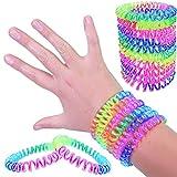 German-Trendseller 6 x bracelets en spirale┃twist l'arc en ciel┃mélange de couleurs┃petit cadeau┃l'anniversaire d'enfant┃bijoux d'enfants