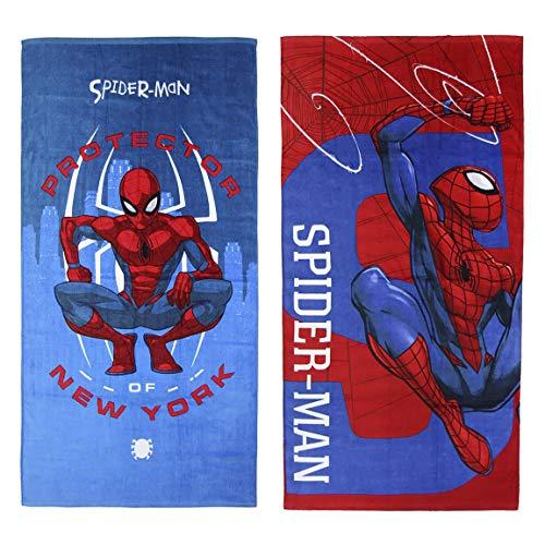 Cerdá Toalla Algodón Spiderman, Azul, 70x140cm (2200003868)