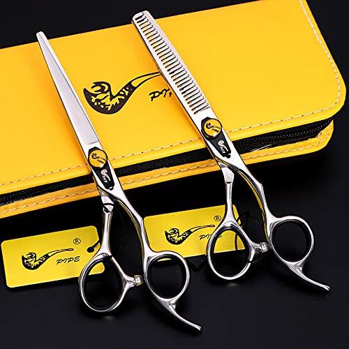 XYY Conjunto de Tijeras de peluquería de Acero Inoxidable 6.0'de precisión. Establecimiento de Tijeras de peluquería,C,5.5 Inch